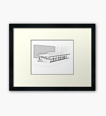 Architecture Warsaw Post-war Modernism - CHEMIA PAVILION Framed Print