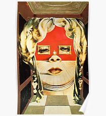 Salvador Dali Mae West Surrealist Famous Paintings Poster
