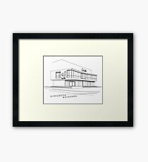 Warsaw Architecture, Modernism. Pawilon Cepelia Framed Print