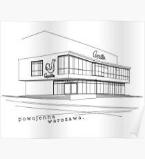 Warsaw Architecture, Modernism. Pawilon Cepelia Poster
