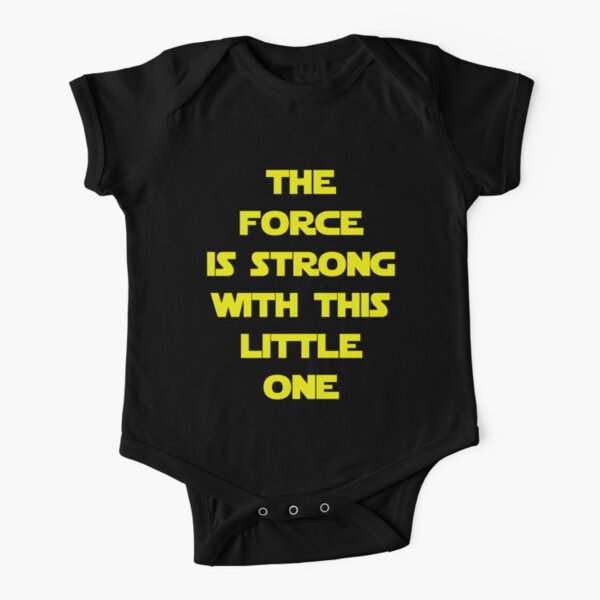The Force Short Sleeve Baby One-Piece
