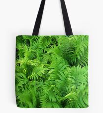 Matured Green Feathers Tote Bag