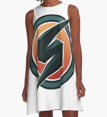 Metroid Prime Logo Vector A-Line Dress