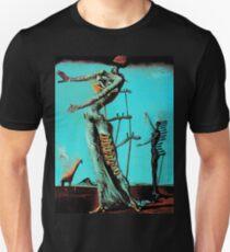 Salvador Dali Burning Giraffe Surreal Famous Painters Unisex T-Shirt
