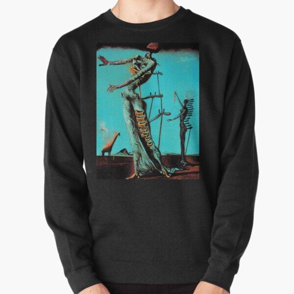 Salvador Dali Burning Girafe Peintres célèbres surréalistes Sweatshirt épais