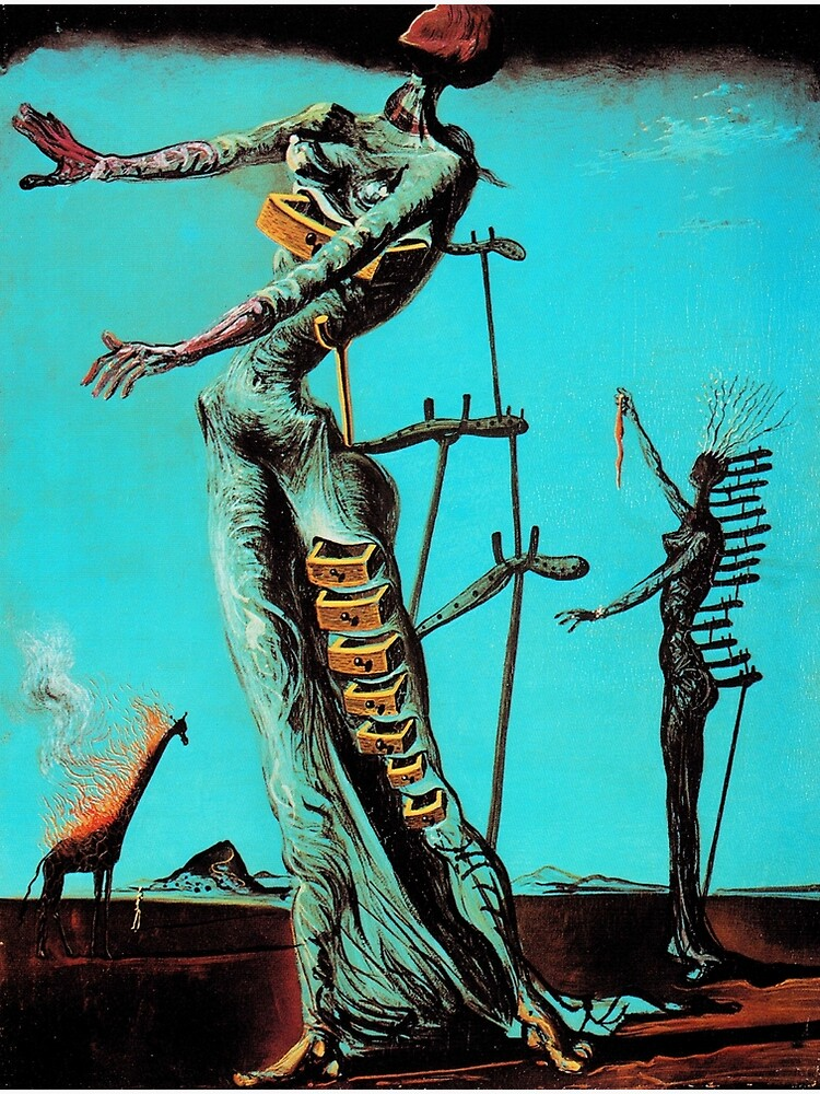 Salvador Dali Burning Giraffe Surreal Famous Painters by tanabe