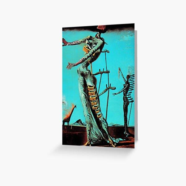 Salvador Dali Burning Giraffe Surrealista Pintores famosos Tarjetas de felicitación