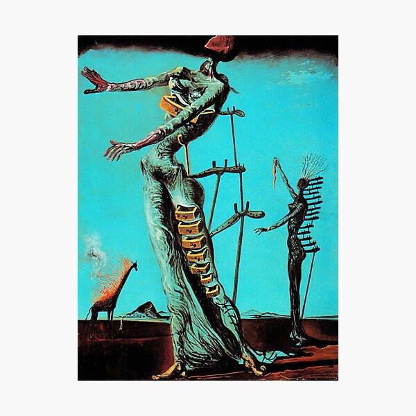 Salvador Dali Burning Giraffe Surreal Famous Painters Photographic Print