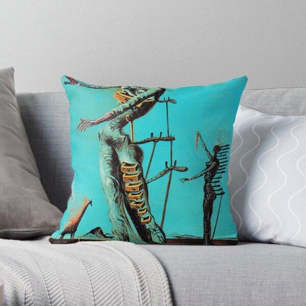 Salvador Dali Burning Giraffe Surreal Famous Painters Throw Pillow