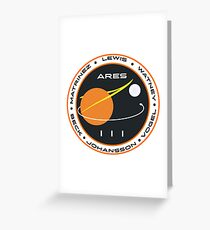 Ares 3 mission to Mars Picture Greeting Card