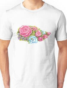 bouquet of pink rose Unisex T-Shirt