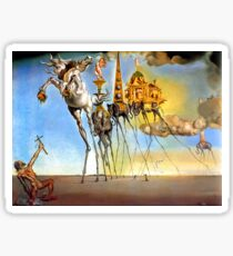 Salvador Dali Temptation of St. Anthony Surrealism Famous Painters Sticker