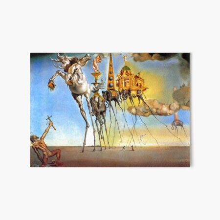 Salvador Dali Temptation of St. Anthony Surrealism Famous Painters Art Board Print
