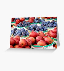 Fruits for sale Greeting Card