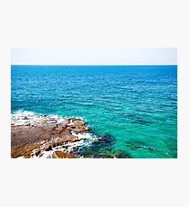 Ocean or sea view with turquoise water Photographic Print