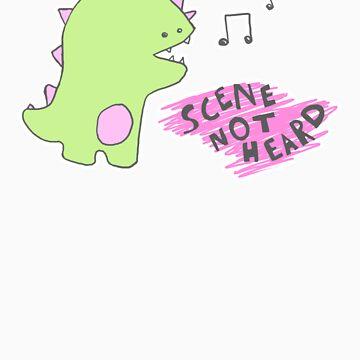 pink dino singing by dsfghabi