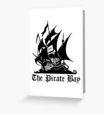 The pirate bay Greeting Card