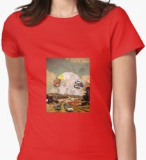 Ancient Urban Traffic Womens Fitted T-Shirt