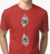 Green eyes Tri-blend T-Shirt