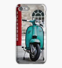 Turquoise Lambretta GP iPhone Case/Skin