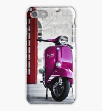 Italian Pink Vespa Rally 200 Scooter iPhone Case/Skin
