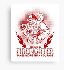Firefighter Fireman Canvas Print