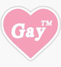Gay tm Heart Sticker