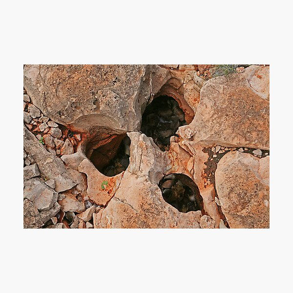 Rock formation at Yardie Creek, WA  Photographic Print