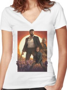 Logan Movie  Women's Fitted V-Neck T-Shirt