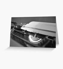 Schreibmaschine schwarz/weiß Greeting Card