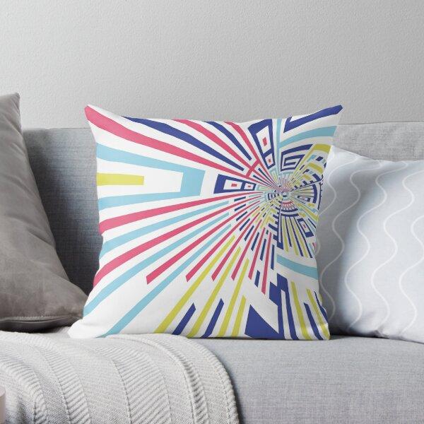 PunchArcticLemonBlue Throw Pillow