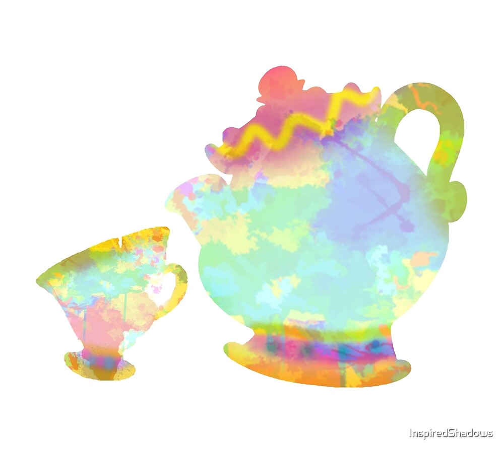 Cup and Teapot Inspired Silhouette by InspiredShadows