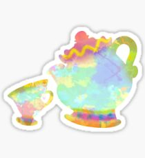 Cup and Teapot Inspired Silhouette Sticker