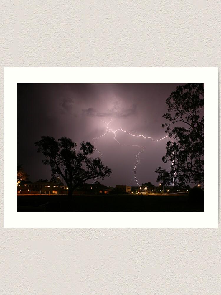 Alternate view of Lightning Art Print