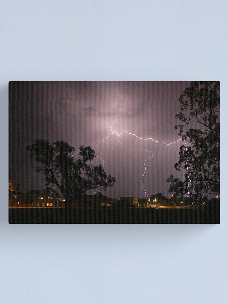 Alternate view of Lightning Canvas Print