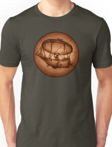 The Indefatigable Investigations Of The Dirigible Dynamo Minerva (Circular Version) Unisex T-Shirt