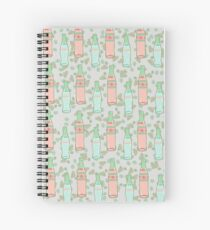 Green Glass Bottles Spiral Notebook
