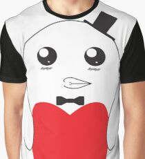 Adorable Love Penguin Graphic T-Shirt