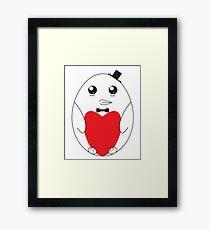 Adorable Love Penguin Framed Print
