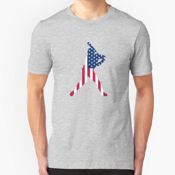 USA is baseball. Slim Fit T-Shirt