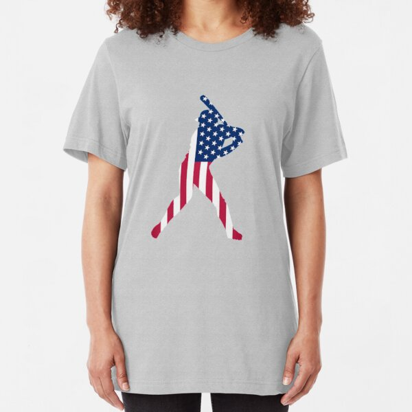 USA is baseball. Slim Fit T-Shirt