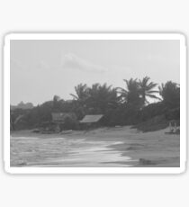 Beach in black and white Sticker