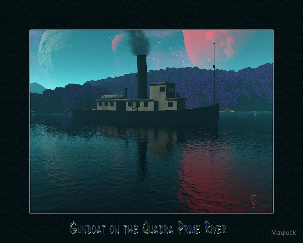 GunBoat on the Quadra Prime River by Maylock