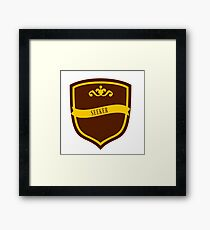Red and Gold Badge 8 Framed Print