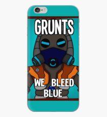 Grunts: We Bleed Blue iPhone Case