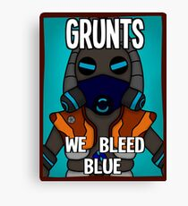 Grunts: We Bleed Blue Canvas Print