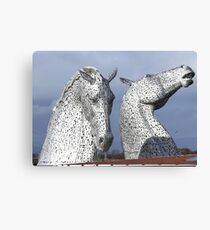 The Kelpies March 2017 Canvas Print