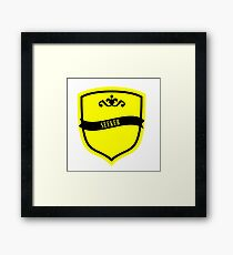 Black and Yellow Badge 8 Framed Print