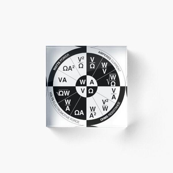 Ohm's Wheel Of Power Acrylic Block