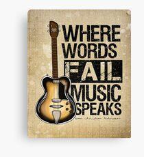 Music Quote Canvas Print